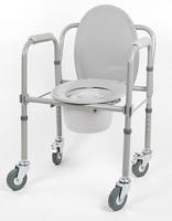 Кресло-стул с санитарным оснащением активного типа (с колесами) 10581Ca
