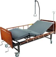 Кровать медицинская функциональная с механическим приводом Е-8 (2 функции) деревянная с туалетным устройством ММ-16