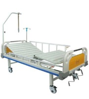 Кровать медицинская функциональная с механическим приводом Е-8 (2 функции) пластик с туалетным устройством ММ-19