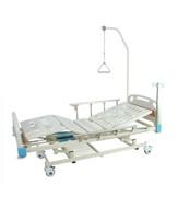 Кровать медицинская функциональная с механическим приводом Е-31 (3функции) ММ-24 с ростоматом и полкой