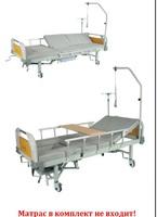 """Кровать медицинская функциональная с механическим приводом Е-45В с боковым переворачиванием и """"кардио-креслом"""" ММ-40"""