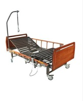 Кровать медицинская функциональная с электрическим приводом DB-10 (2 функции) деревянная с туалетным устройством ММ-56